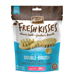 Fresh Kisses Double Brush Mint Dental Treats - Small Dog