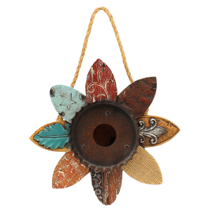 Rustic Flower Shaped Bird House
