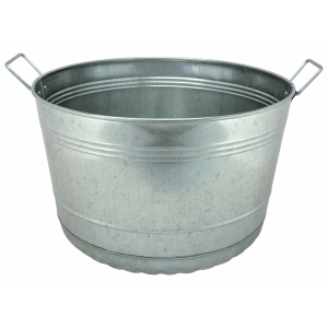 8 Gallon Galvanized Bushel Tub