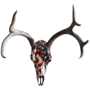 Skull Master European Mount Kit for Deer - Respect Flag