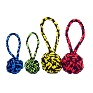 Nuts for Knots with Tug Dog Toy - Assorted Colors