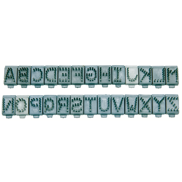 "3/8"" Tattoo Digit A-Z Individual Letters"