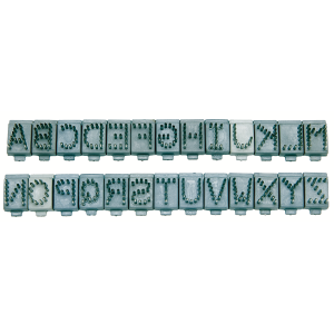"3/8"" Tattoo Digits A-Z Individual Letters"
