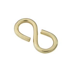 V2073 Closed S Hooks - Solid Brass