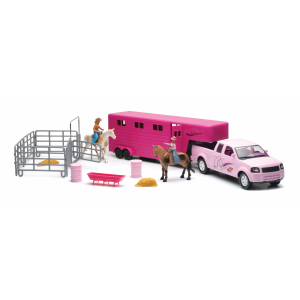 Valley Ranch Pink Pickup Trailer Set