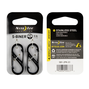 Stainless Steel S-Biner #1 - 2 Pack