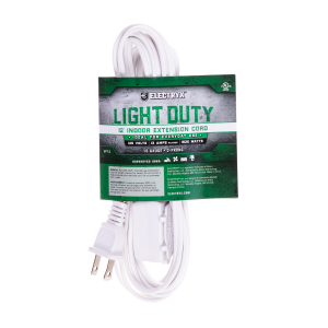 16 Gauge Light Duty Indoor Extension Cord - White