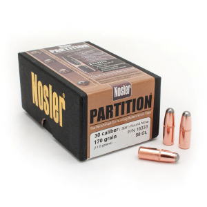 Partition .30 Caliber 170 Grain (.308) Round Nose Bullets