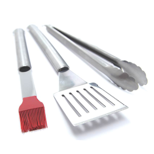 3-Piece Stainless Steel BBQ Tool Set