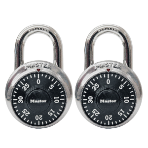 "1-7/8"" Wide Combination Dial Padlock 2-Pack"