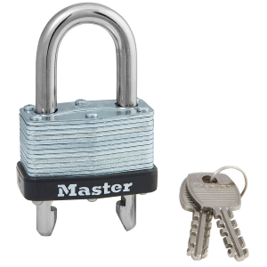 "1-3/4"" Wide Laminated Steel Warded Padlock w/ Adjustable Shackle"