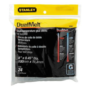 "4"" x 0.45"" Dual Temperature Glue Sticks - 24-Pack"