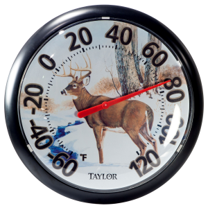 "13.25"" Deer Dial Thermometer"