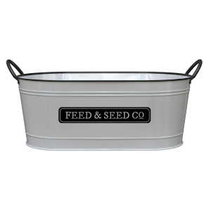 "16"" Milkhouse Feed & Seed Oval Planter"
