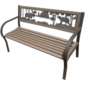 2-Tone Moose and Bear Bench