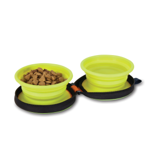 Silicone Duo Travel Bowl