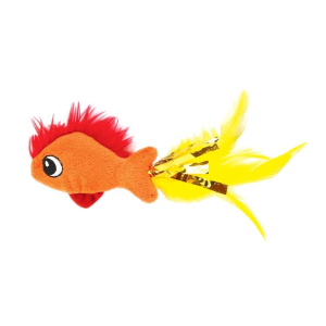 Feather Fish Cat Toy