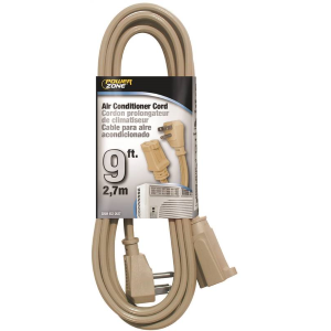 9' Beige Air Conditioner Cord - 14/3