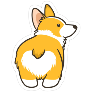 Corgi Heart Butt Sticker