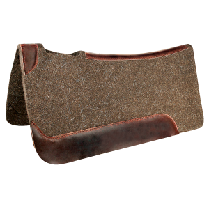 Wool Contour Pad with Leather