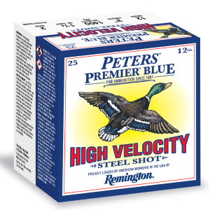 "12 Gauge Hi Vel #4 Peters Premiere Blue 3"" Shotgun Shell"