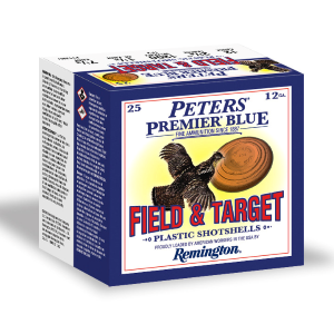 "12 Gauge Field & Target #7-1/2 Peters Premiere Blue 2-3/4"" Shotgun Shell"