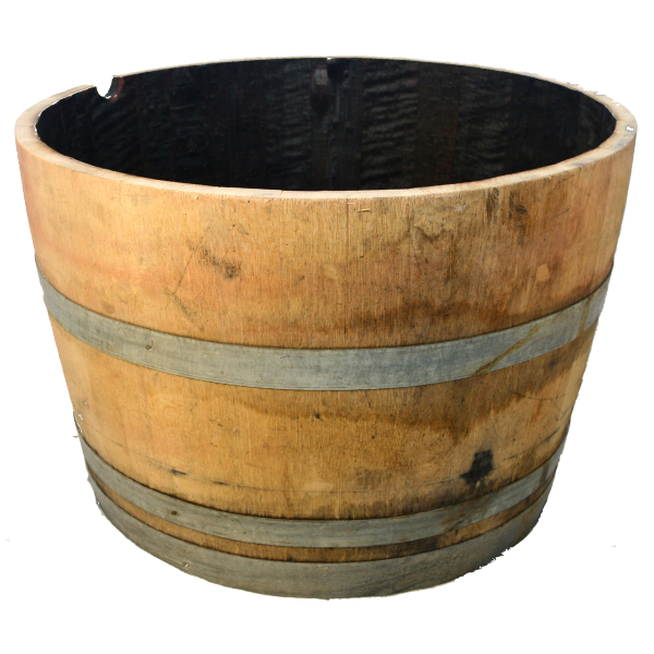 Half Oak Wine Barrel Planter