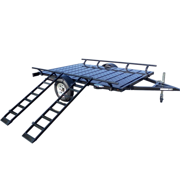 6X9 Trailer with Ramp Side Load