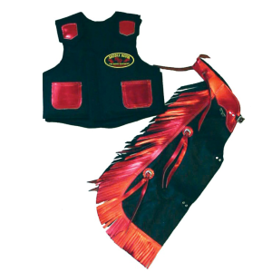 Kids Rodeo Chap/Vest Combo - Assorted Styles/Colors
