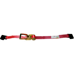 "2"" x 50' Ratchet Strap With Flat Hook - Red"