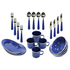 Deluxe 24 pc Enamel Tableware Set image