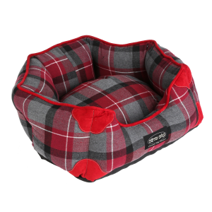 Oblong Bolster Dog Bed