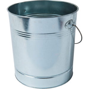 Metal Pellet Storage Bucket