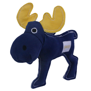 Canvas Moose Dog Toy with Squeaker