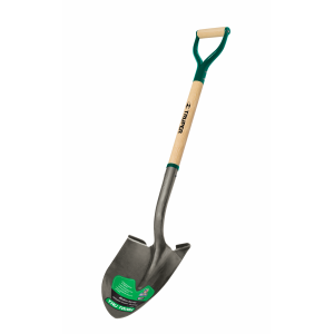 Round Point Shovel with Steel D-Handle