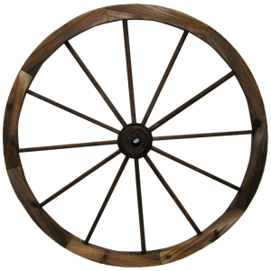 Wooden Wagon Wheel with Hub
