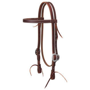 Weaver Leather Working Cowboy Stainless Steel Browband Headstall