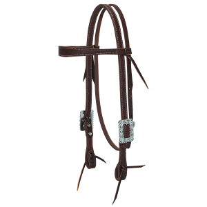 Working Cowboy Slim Browband Headstall with Southwest Square Scalloped Hardware