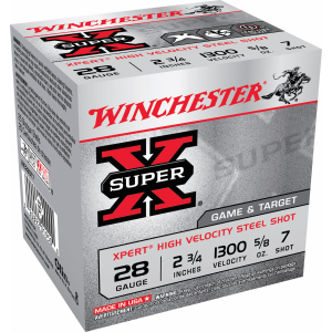 Super X 28 Gauge Xpert High Velocity Steel Shot Ammo