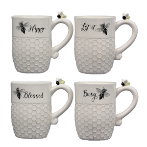 Ceramic Bee Mug - Assorted
