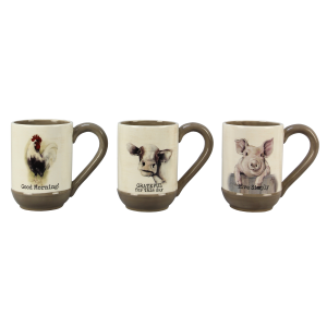 Ceramic Farmhouse Mug - Assorted