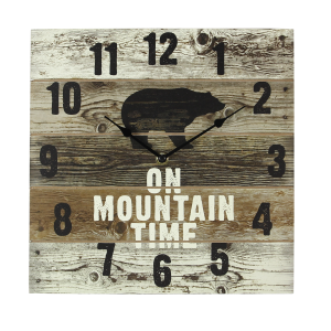 On Mountain Time Wall Clock