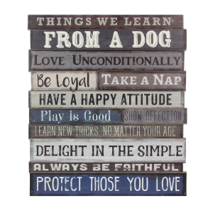 Things We Learn From A Dog Wall Sign