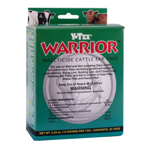 Warrior Insecticide Cattle Ear Tags - 20 Count