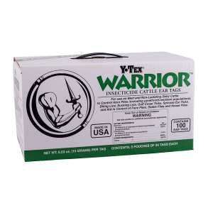 Warrior Insecticide Cattle Ear Tags - 100 Count