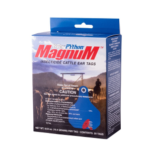 PYthon Magnum Insecticide Cattle Ear Tags - 20 Count