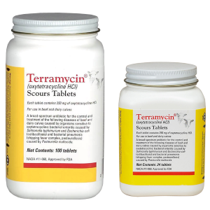 Terramycin Scours Tablets for Calves