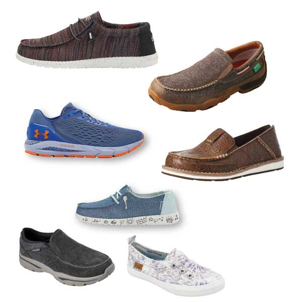 Women's, Men's, and Kids' Casual Footwear