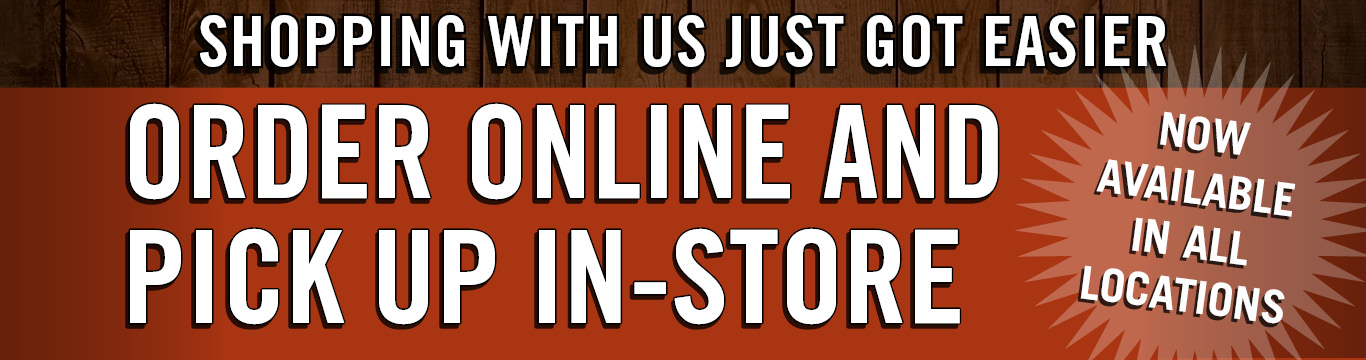 Order online pick up in-store. Available in all locations